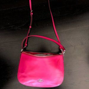 Coach Smith Chelsea Pink Leather Crossbody Purse